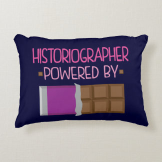 Historiographer Chocolate Gift for Her Accent Pillow