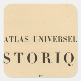 Historique del universel del atlas del medio pegatina cuadrada