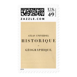 Historique del universel del atlas del medio sellos