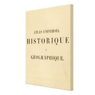 Historique del universel del atlas del medio títul lona envuelta para galerías