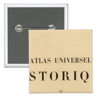 Historique del universel del atlas del medio títul pin cuadrada 5 cm