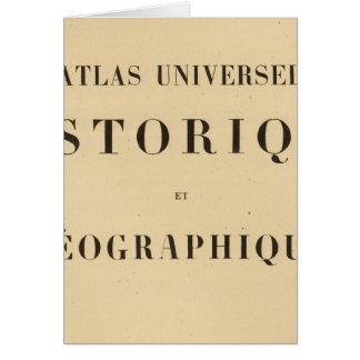 Historique del universel del atlas del medio títul tarjeta de felicitación