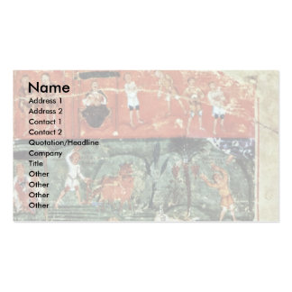 History Adams By Meister Des Ashburneham-Pentateuc Double-Sided Standard Business Cards (Pack Of 100)