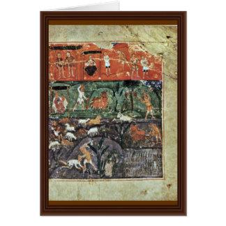 History Adams By Meister Des Ashburneham-Pentateuc Greeting Card