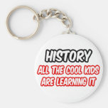 History...All The Cool Kids Are Learning It Keychains