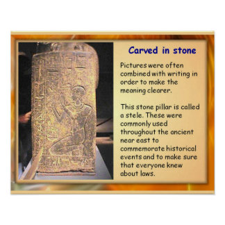 History ANcient Egypt Carved in stone Poster