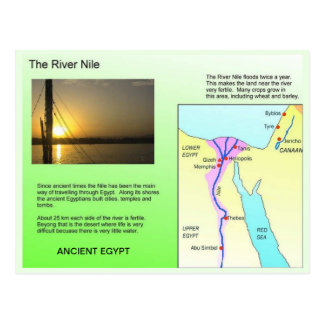 History Ancient Egypt River Nile Post Cards