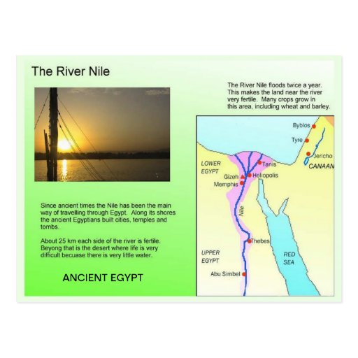 History, Ancient Egypt, River Nile Post Cards