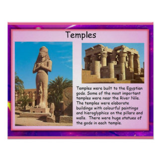 History, Ancient Egypt Temples Poster
