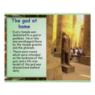 History, Ancient Egypt, The god at home Poster