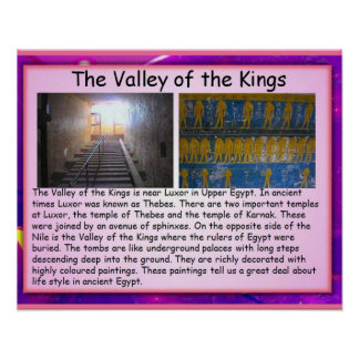 History, Ancient Egypt Valley of the Kings Print