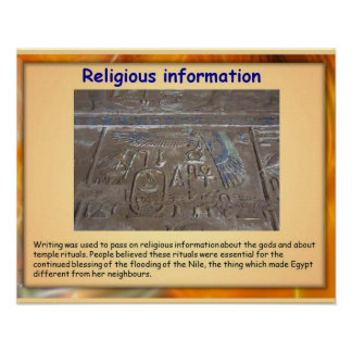 History, Ancient Egypt, Writing for religion Poster