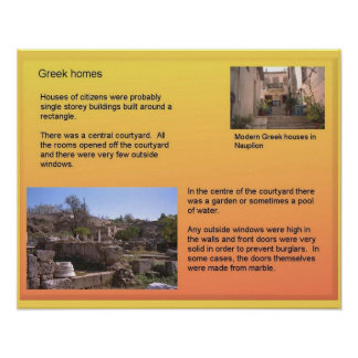 History, ancient Greece, houses and homes Poster