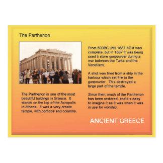 History, Ancient Greece, Parthenon Postcard