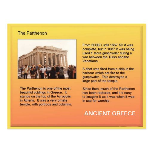 History, Ancient Greece, Parthenon Postcards