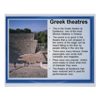 History ancient Greece Theatres Poster