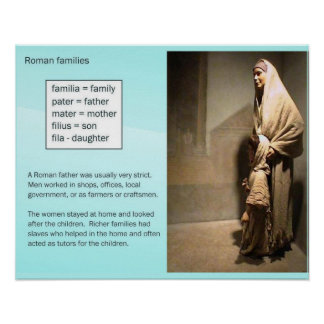 History, Ancient Rome, Families Poster