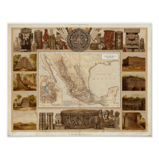 History and Architecture of Mexico Poster