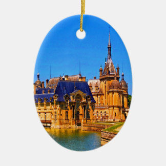 History and beauty chantilly france palace castle ceramic ornament