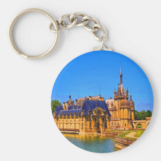 History and beauty chantilly france palace castle key chain