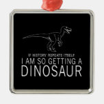 History and Dinosaurs Christmas Ornament