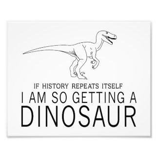 History and Dinosaurs Photo Print