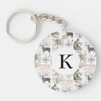 History and Science - Quest for Knowledge Double-Sided Round Acrylic Keychain