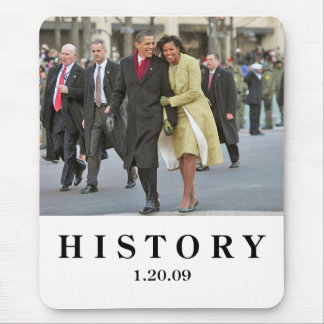 HISTORY Barack and Michelle Obama Inauguration Mouse Mat