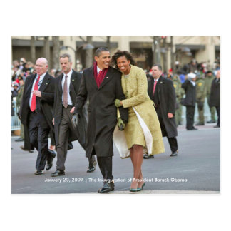HISTORY: Barack and Michelle Obama Inauguration Postcard