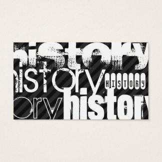 History; Black & Dark Gray Stripes Business Card