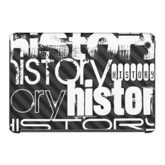 History; Black & Dark Gray Stripes iPad Mini Case
