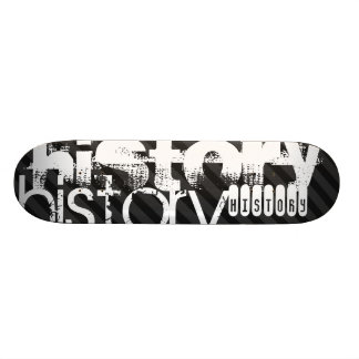 History; Black & Dark Gray Stripes Skateboard