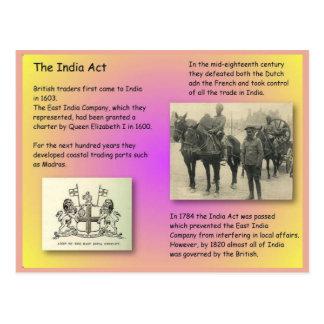 History, British India, India Act Postcard
