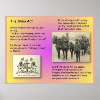 History, British India, the India Act Poster