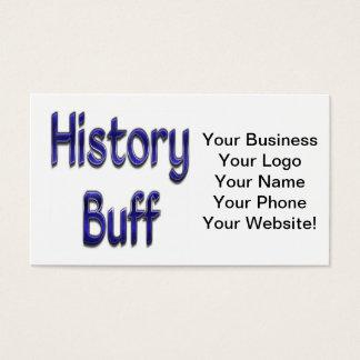 History Buff Blue Business Card