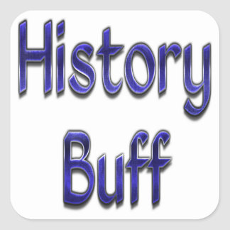 History Buff Blue Square Sticker