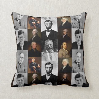History Buff US Presidents and Hamilton Franklin Throw Pillow