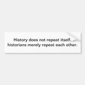 History Bumper Sticker