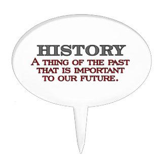 History Cake Topper