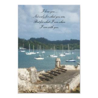 History, charm & romance..... 3.5x5 paper invitation card