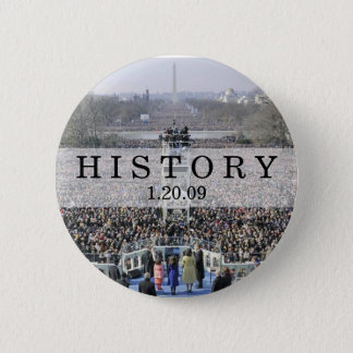 HISTORY: Crowd at Inauguration Ceremony Button