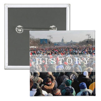 HISTORY: Crowd at Inauguration Ceremony Pinback Button