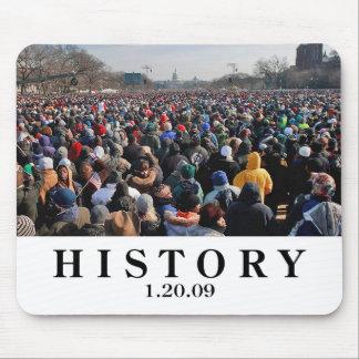 HISTORY: Crowd at Obama Inauguration Mouse Pad