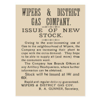 History, Facsimile page from Wipers Times 1917 Postcard