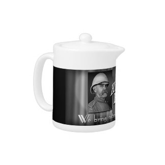 History Files vintage movie trailer small teapot