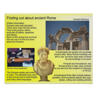 History, Finding out about ancient Rome Poster