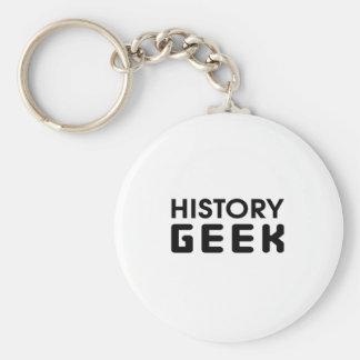 History Geek Basic Round Button Keychain
