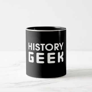 History Geek Two-Tone Coffee Mug