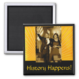 History Happens 2 Inch Square Magnet