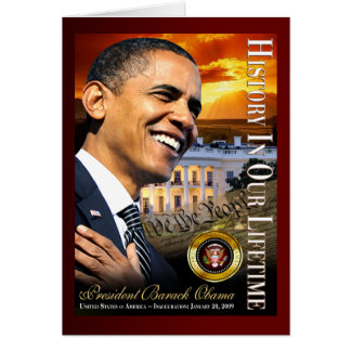 History In Our Lifetime (sunset white house) Card